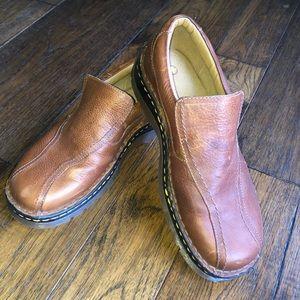 Dr. Martens Vintage Brown Slip on Combat Shoes